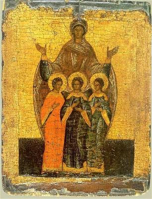 Saints Faith-Hope-Charity catholic saints