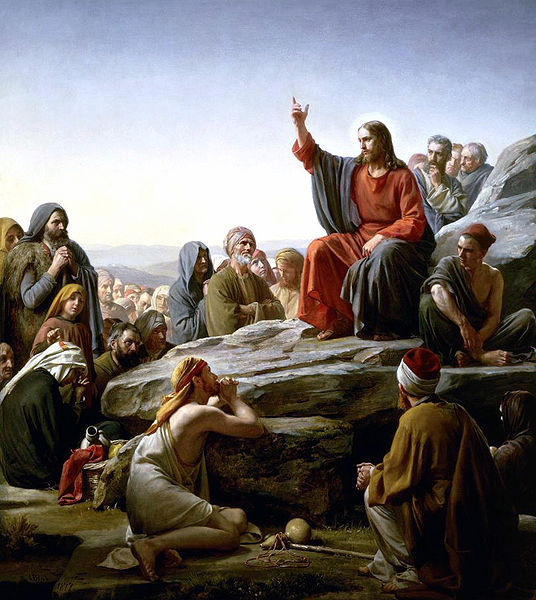 sermen on the mount teaching the our father